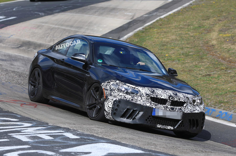 Facelifted BMW M2 testing