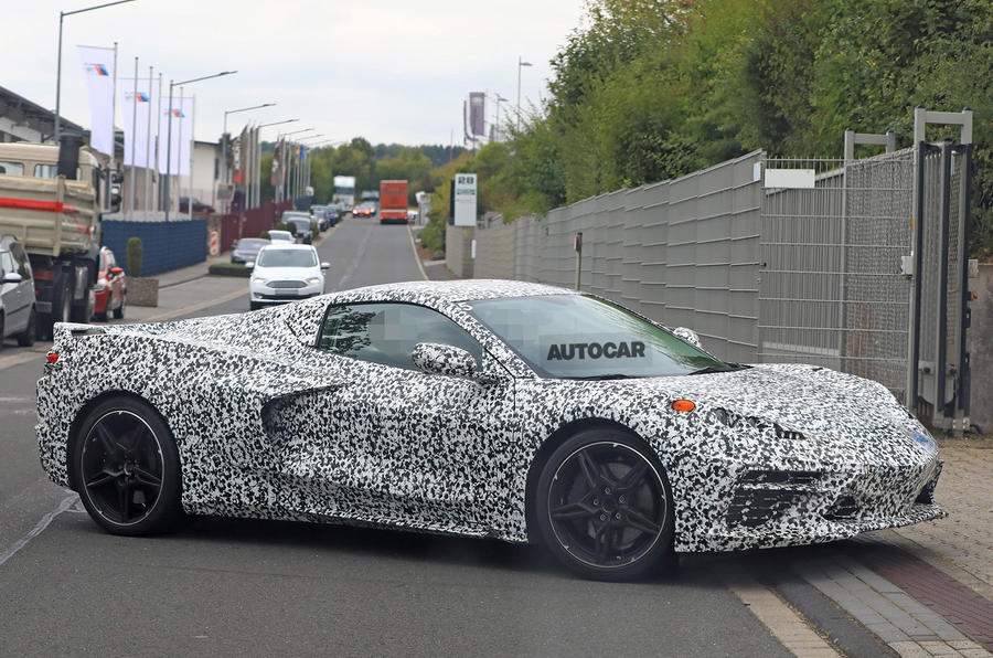 Mid-engined Chevrolet Corvette C8 sheds cladding to reveal shape