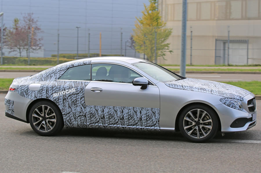 New Mercedes-Benz E-Class Coupé - latest spy pictures