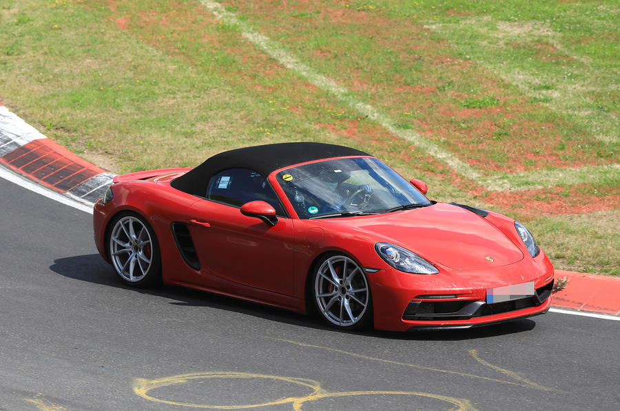 Porsche 718 Boxster GTS spied with up to 375bhp