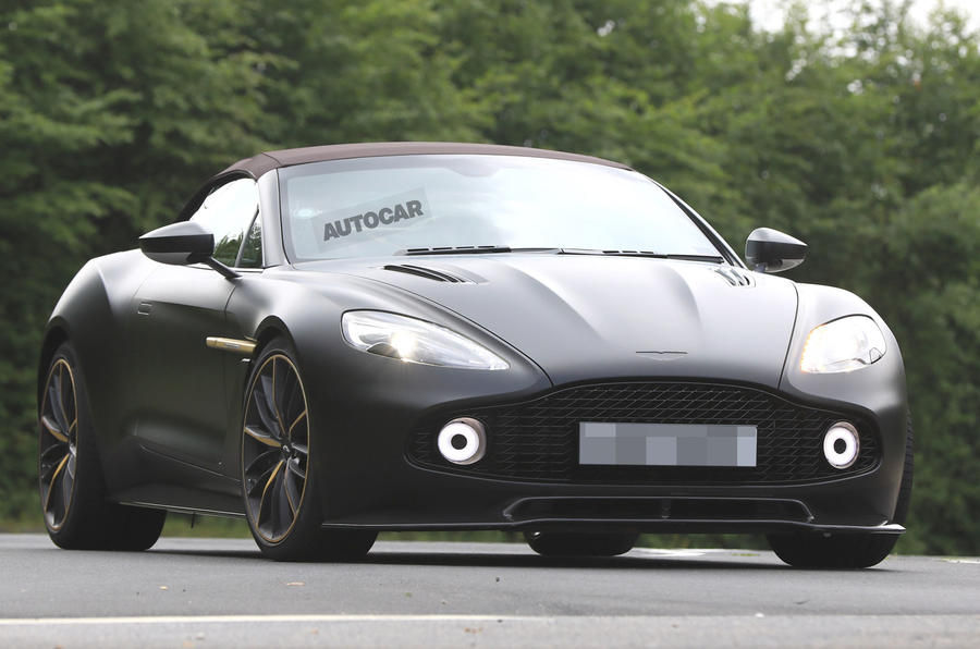 Aston Martin Vanquish Zagato Volante and Speedster spotted testing
