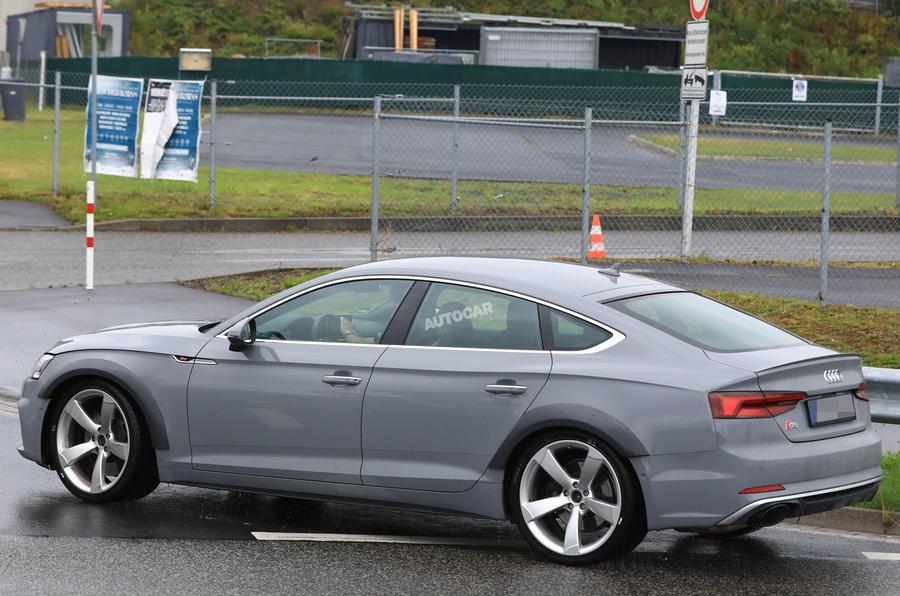 444bhp twin-turbo V6-powered Audi RS5 Sportback seen testing | Autocar