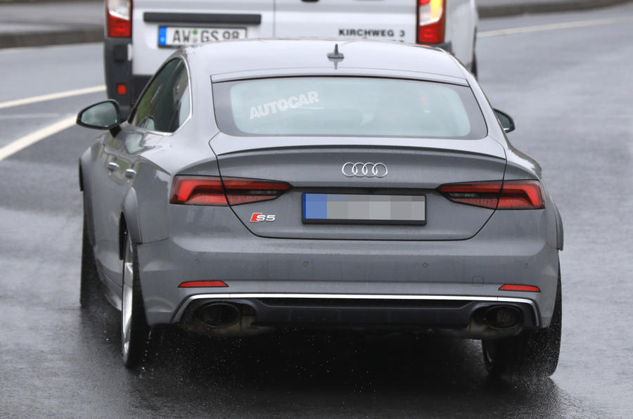 Audi RS5 Sportback testing with 444bhp V6