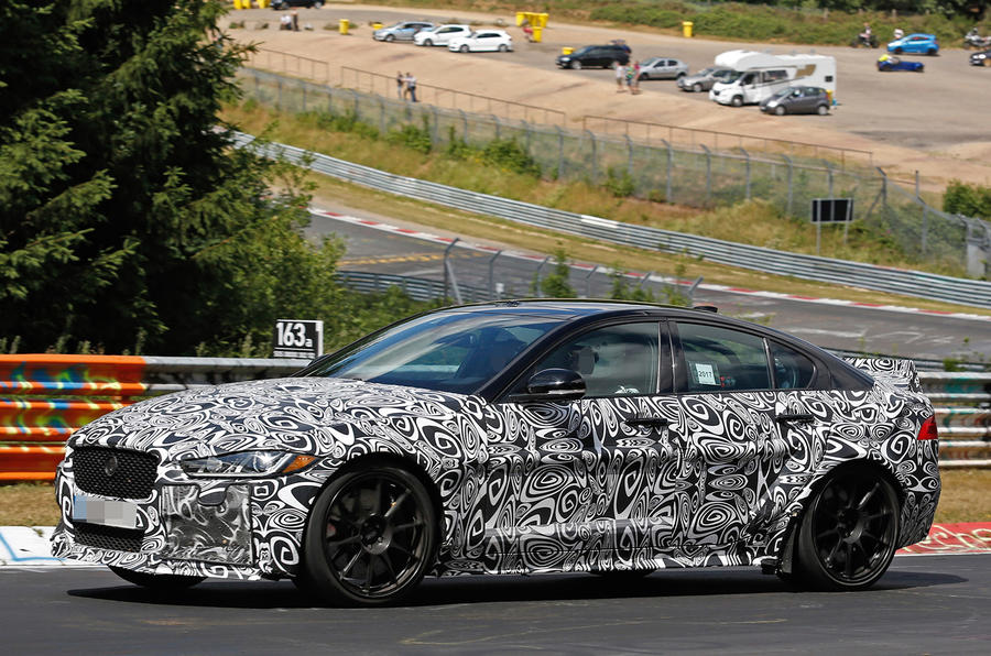 New Jaguar XE SV Project 8 takes on the Nürburgring