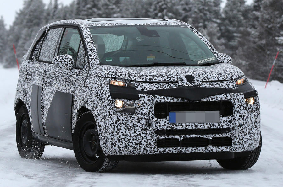 2017 citroen c3 picasso spotted testing autocar. Black Bedroom Furniture Sets. Home Design Ideas