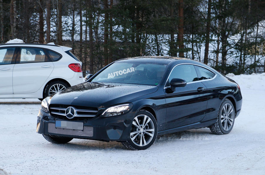 2018 Mercedes-Benz C-Class Coupe facelift spotted for first time