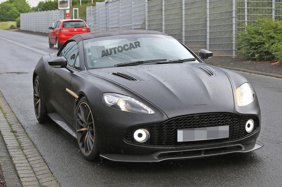 Aston Martin Vanquish Zagato Volante And Speedster Spotted Testing - New aston martin zagato