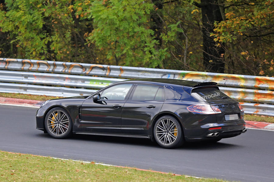 2017 Porsche Panamera Sport Turismo spotted at the Nurburgring