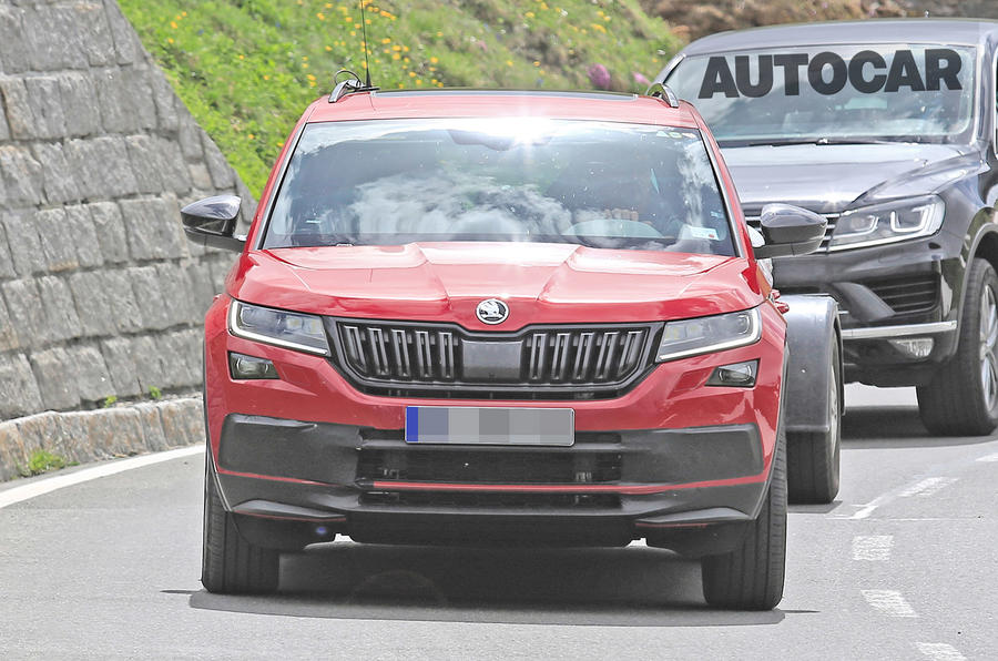 237bhp Skoda Kodiaq vRS spotted testing ahead of autumn reveal