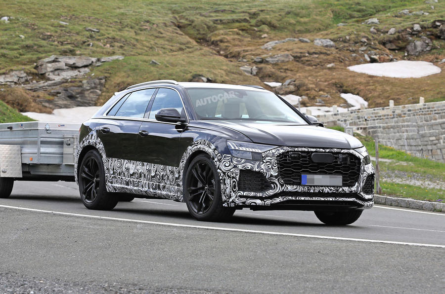 2019 Audi Rs Q8 New Pictures Of 670bhp Hybrid V8 Suv Autocar