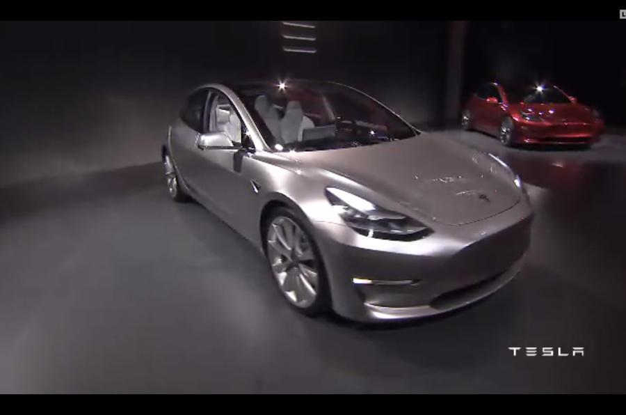 Tesla Model 3 reveal pics