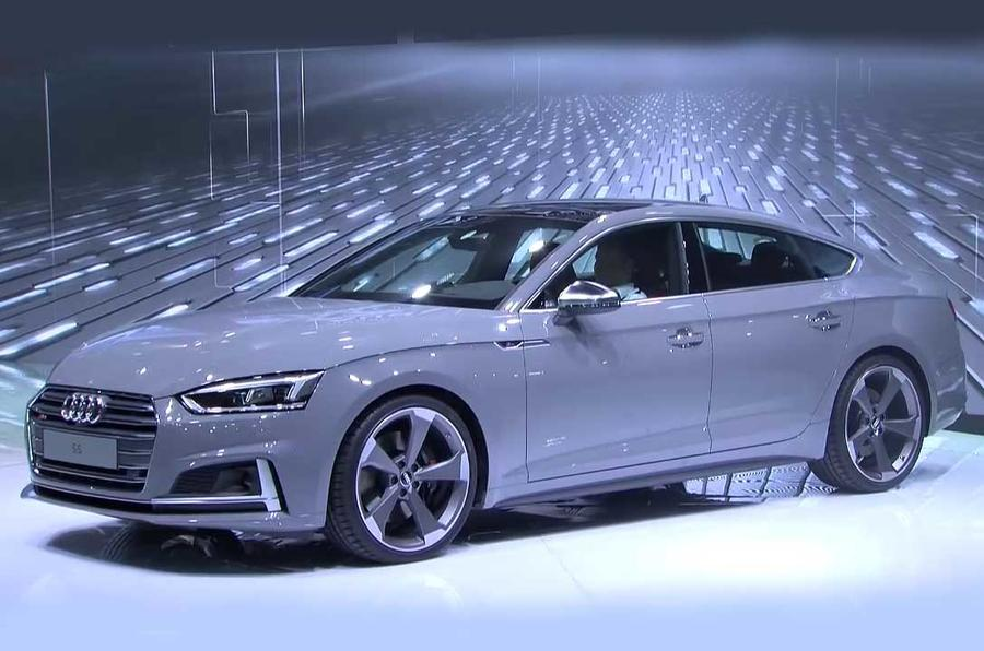2017 audi a5 sportback and s5 sportback shown at paris show autocar. Black Bedroom Furniture Sets. Home Design Ideas