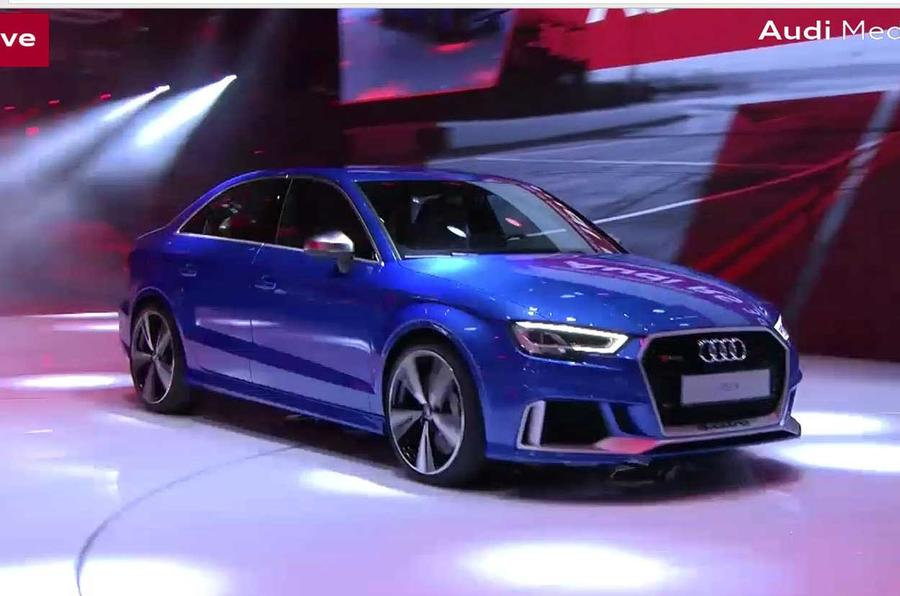 Audi RS3 saloon and RS3 LMS racer revealed in Paris