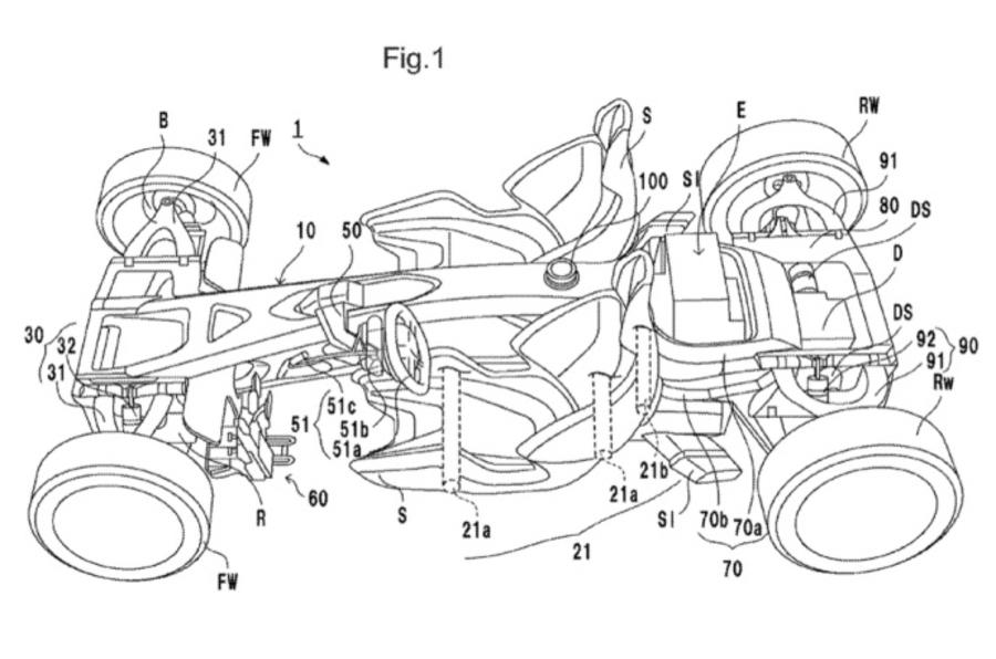 Honda files patent for electric Ariel Atom rival