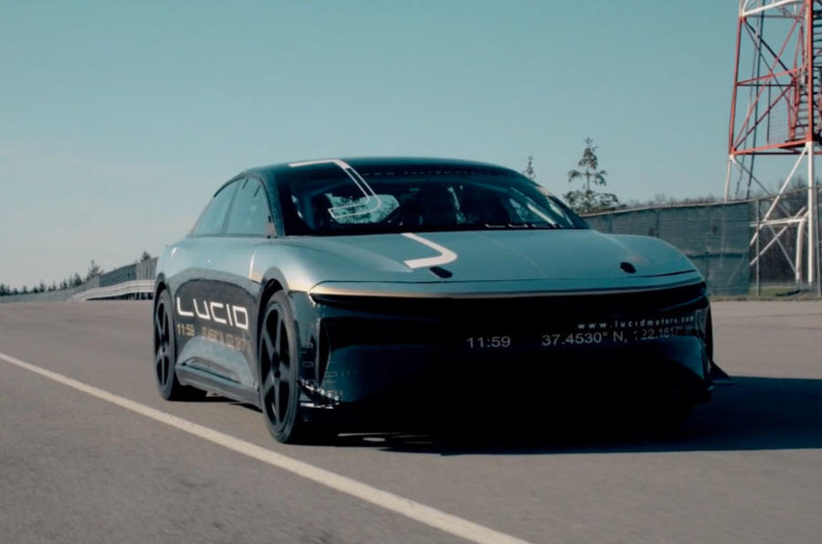 Lucid Motors's 1000-HP Lucid Air Electric Car Hits 235 miles per hour