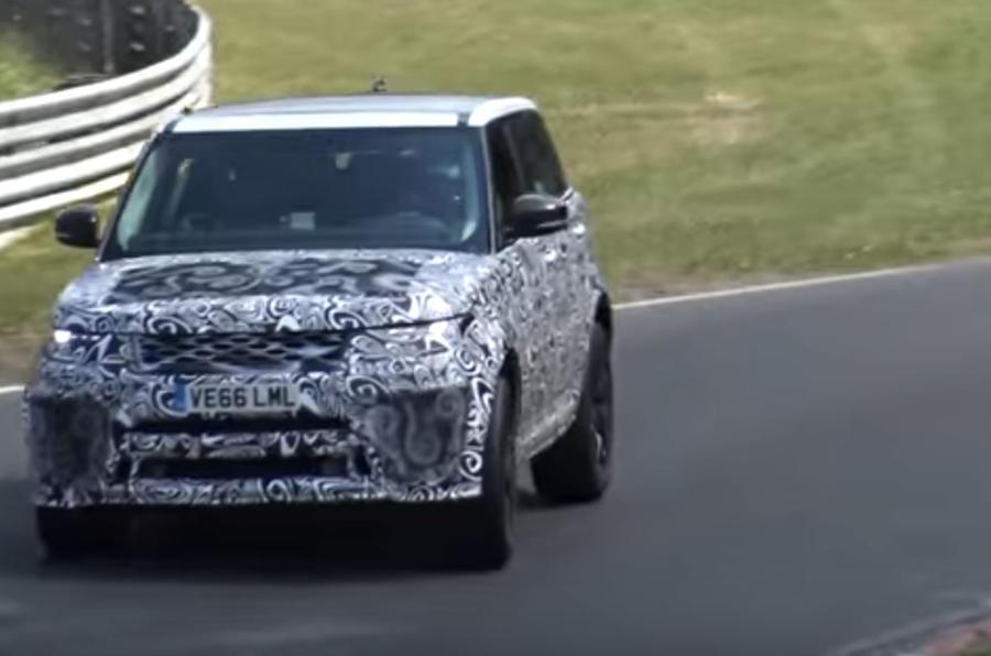 Range Rover Sport SVR hard cornering