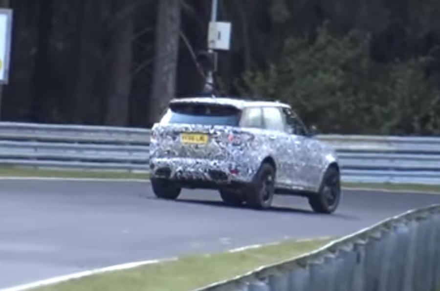Range Rover Sport SVR rear cornering