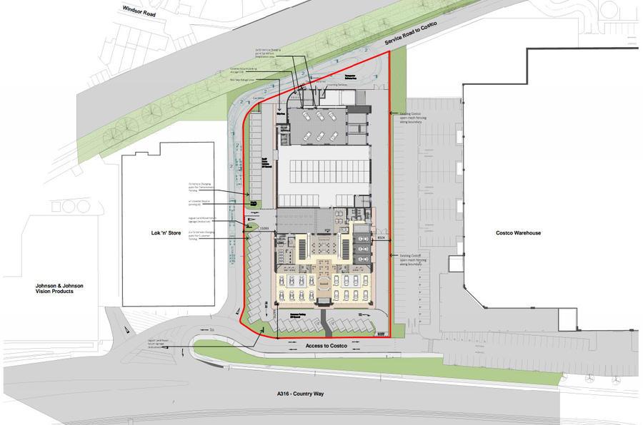 Jaguar Land Rover Sunbury showroom plan
