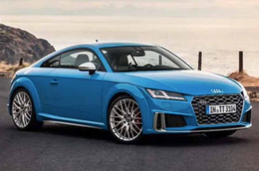 2018 audi tt facelift leaks online autocar. Black Bedroom Furniture Sets. Home Design Ideas