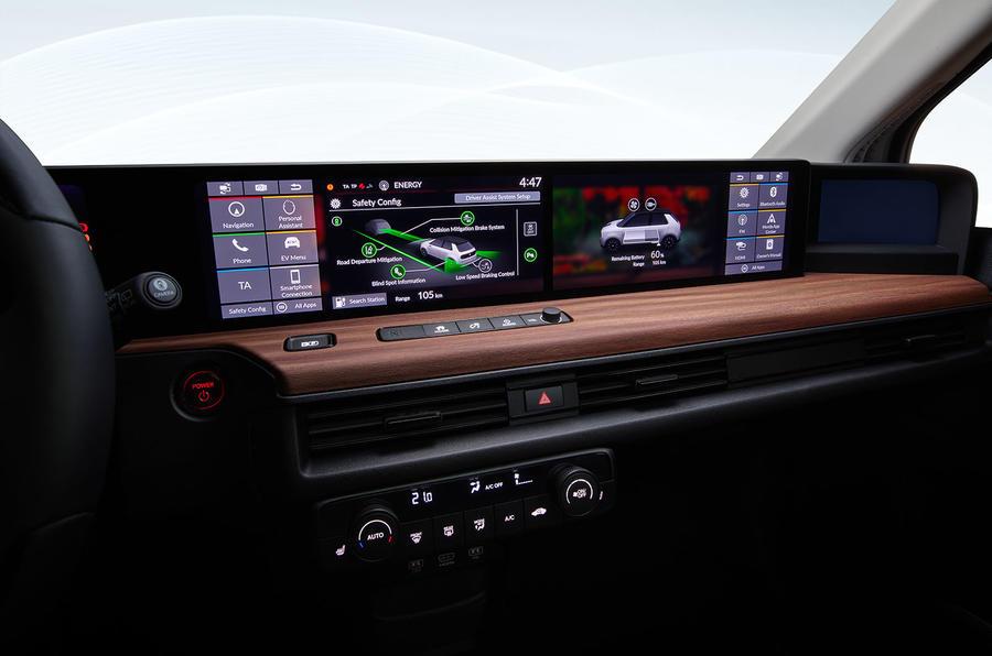 Honda e official production version - dashboard