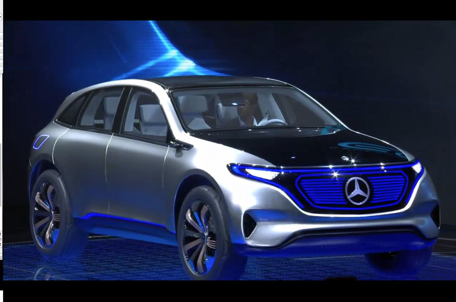 Mercedes generation eq concept revealed at paris motor for Mercedes benz concept eq