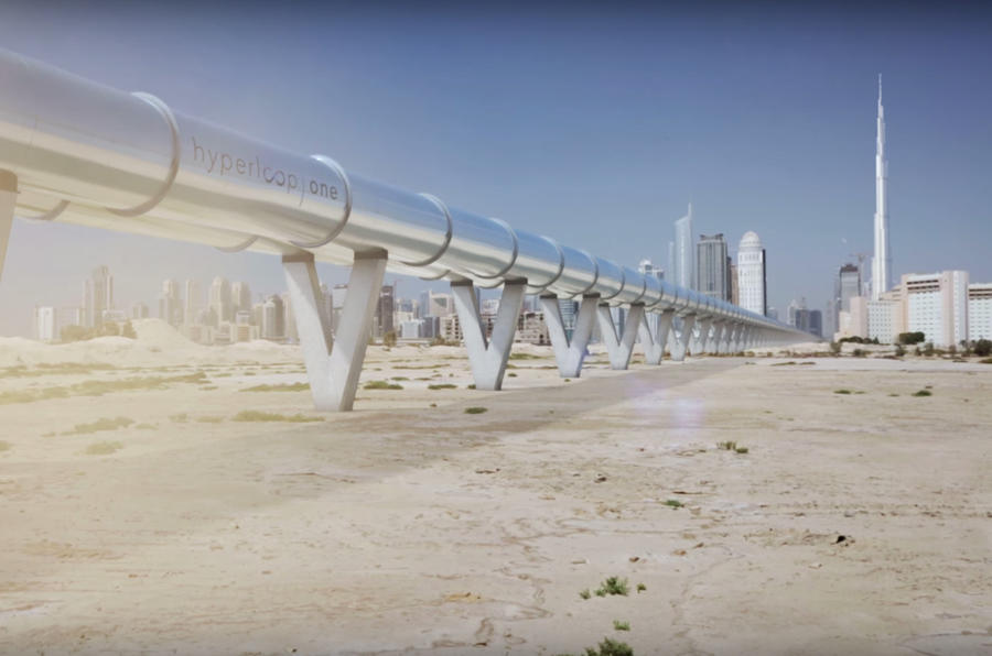 Hyperloop One system demonstrated on video