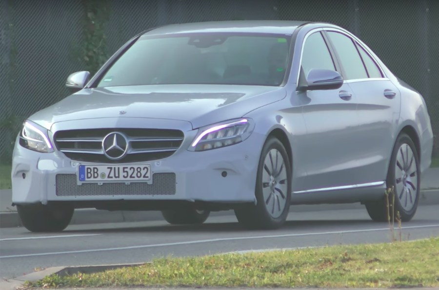 Facelifted Mercedes-Benz C-Class makes outing almost undisguised: on video