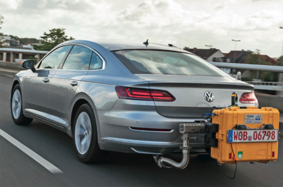 VW exhaust testing