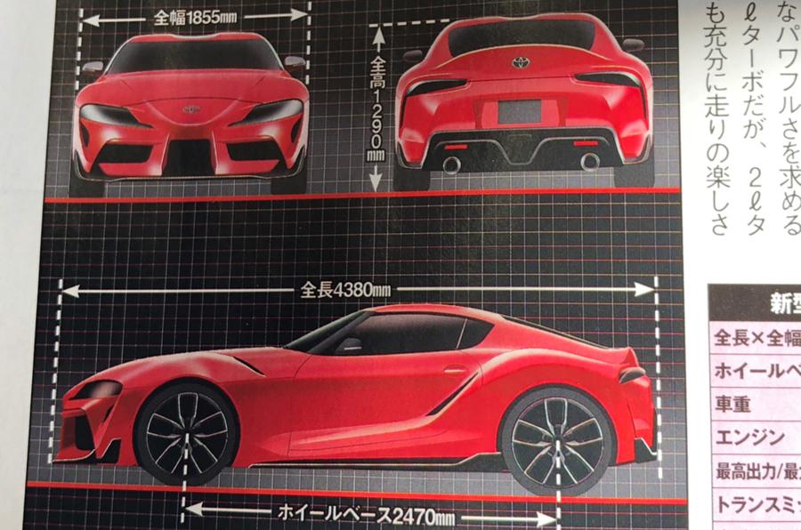 2019 Toyota Supra leaks: 0-62mph in 3.8sec, 335bhp
