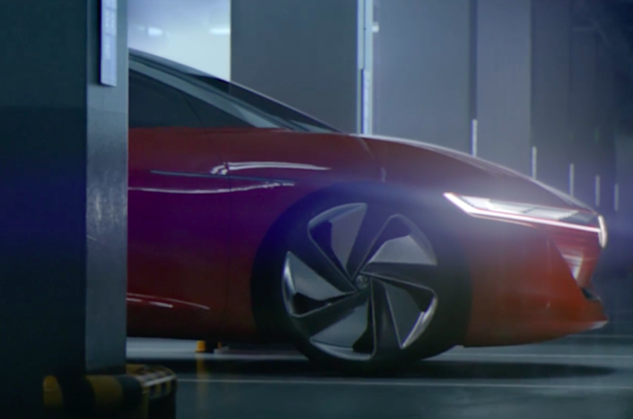 Volkswagen reveals forthcoming luxury electric saloon
