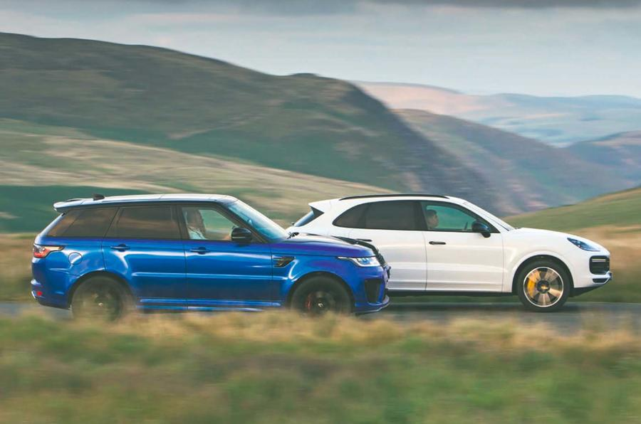 Hot Suv Twin Test Porsche Cayenne Turbo Vs Range Rover