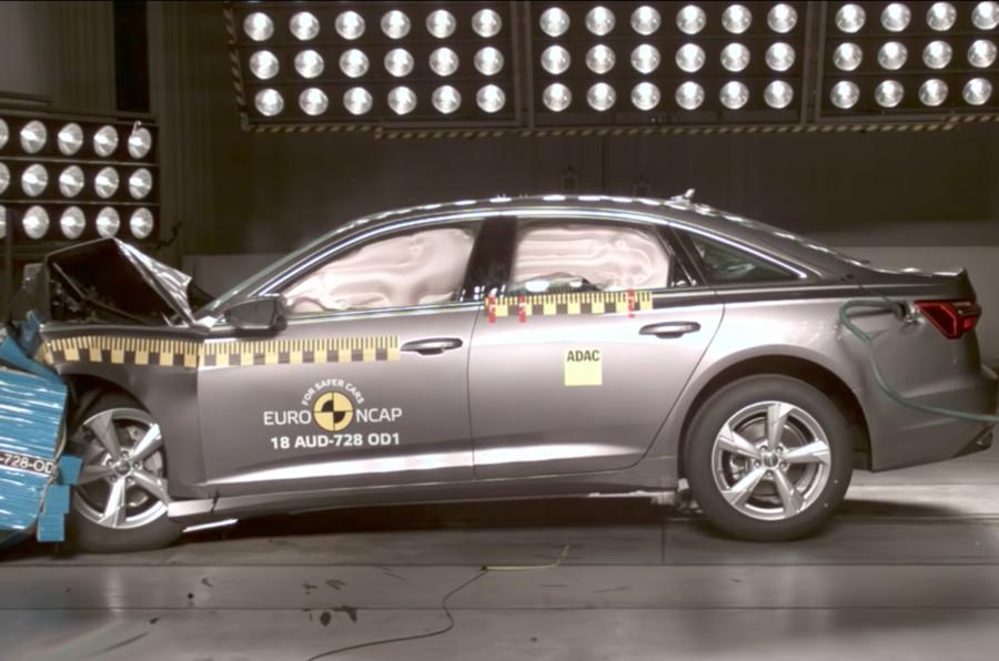 Audi A6 crash test