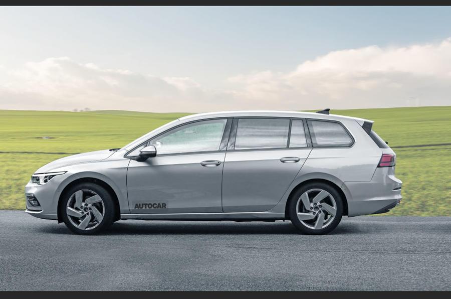 2020 Volkswagen Golf Estate, rendered by Autocar