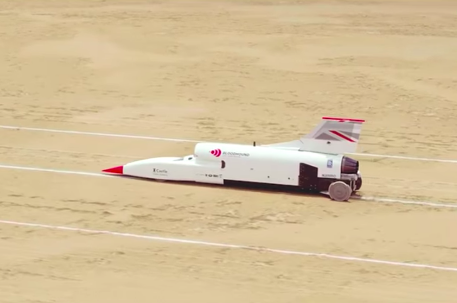 Land Speed Record >> Bloodhound Land Speed Record Car Tops 500mph Autocar