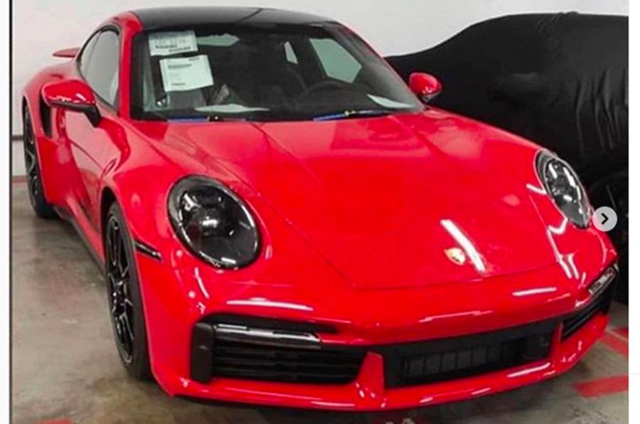 Porsche 911 Turbo S leaked front