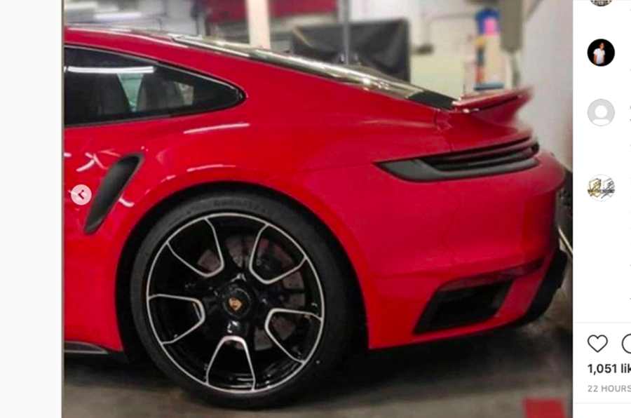 Porsche 911 Turbo S leaked side