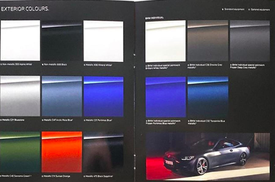 2020 BMW 4 Series leaked images - colours