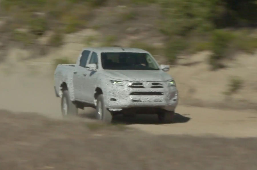 2020 Toyota Hilux prototype with Fernando Alonso