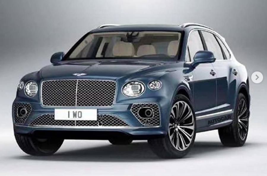 2020 Bentley Bentayga facelift leaked image - front