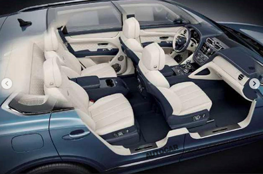2020 Bentley Bentayga facelift leaked image - interior