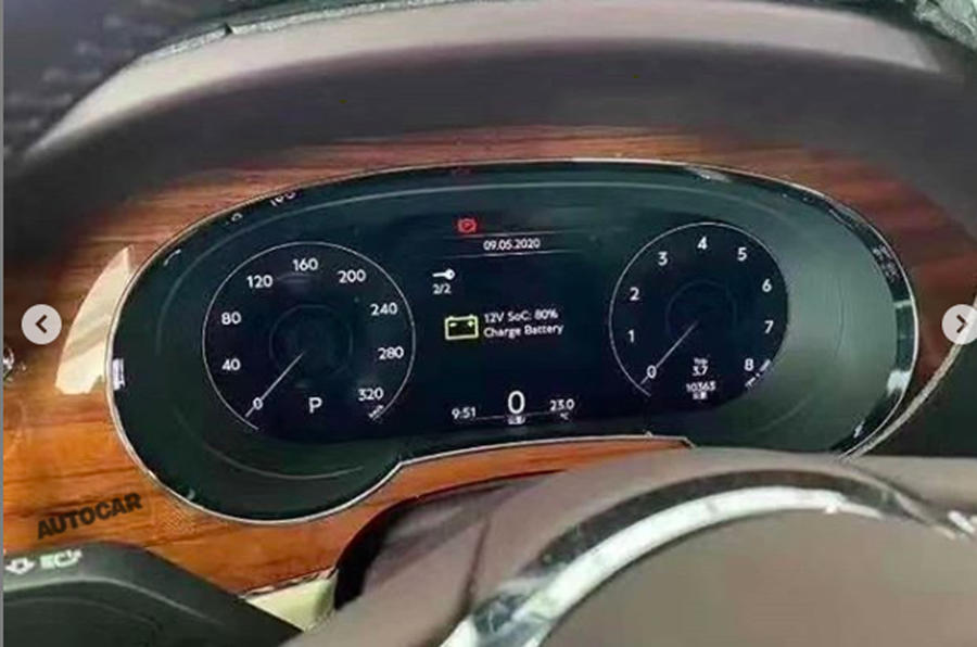 2020 Bentley Bentayga facelift leaked image - clocks