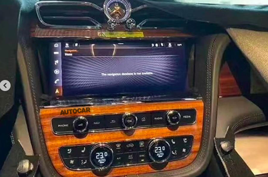 2020 Bentley Bentayga facelift leaked image - infotainment