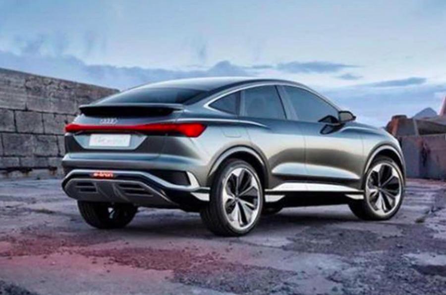 2020 Audi Q4 E-Tron Sportback - leaked rear image