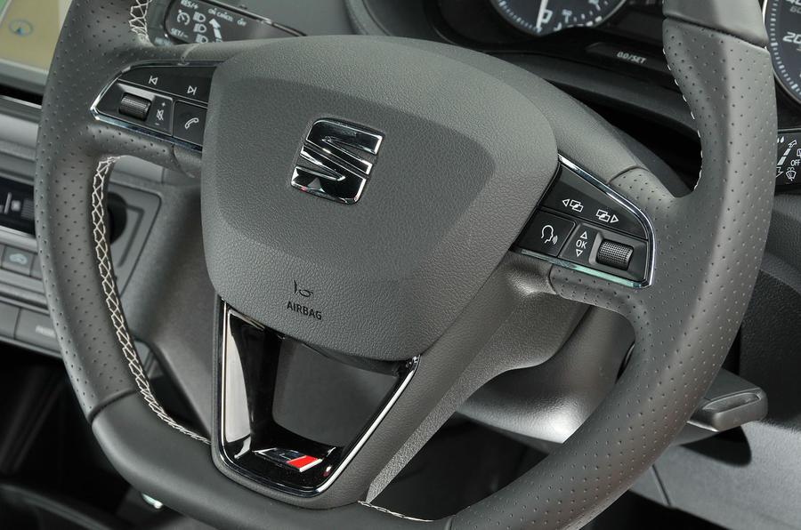 Seat Ibiza Cupra steering wheel