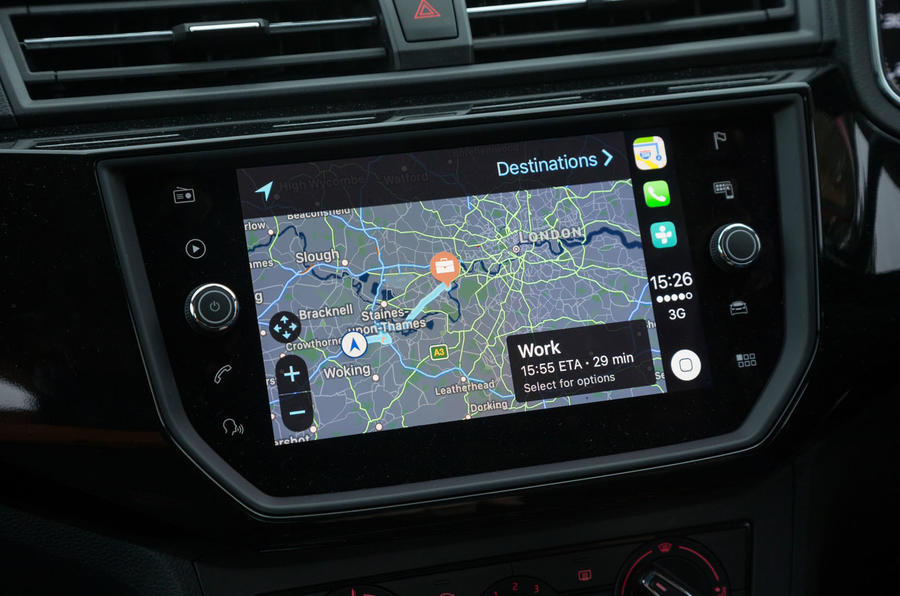 Apple CarPlay in the Seat Ibiza