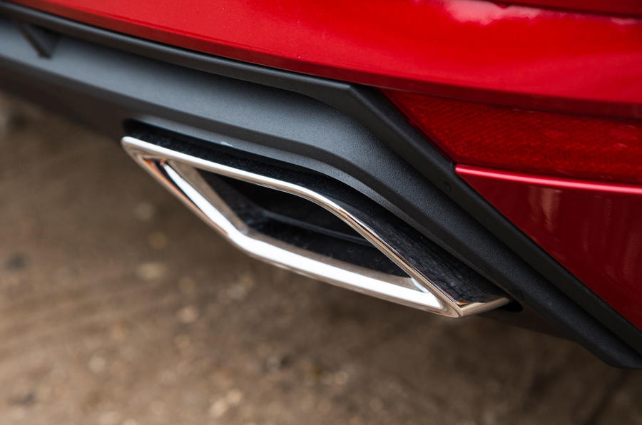 Seat Ibiza chrome exhaust trim