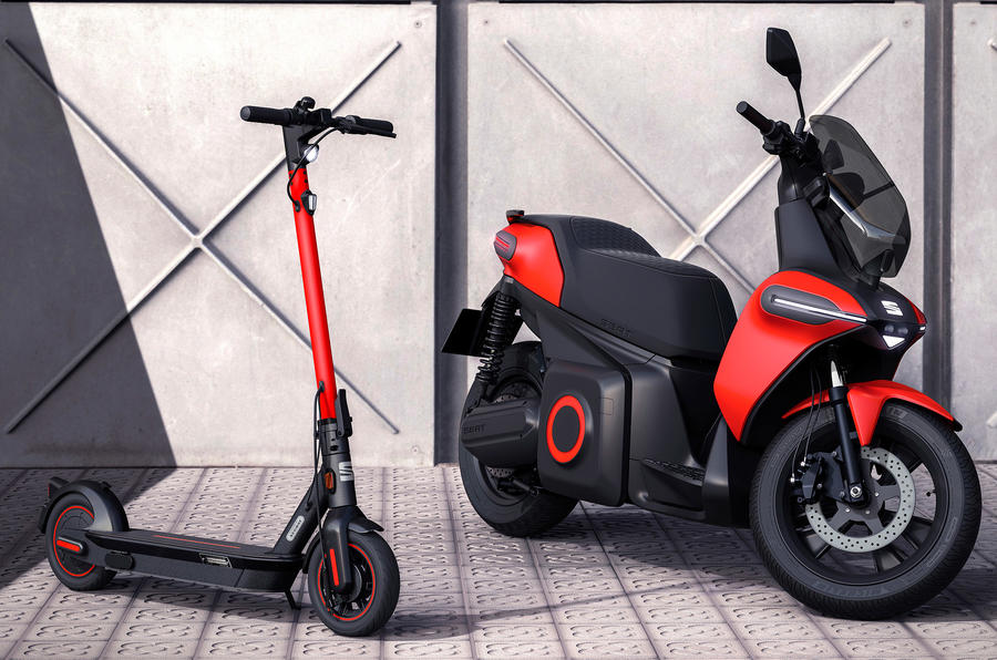 Seat e-Scooter and e-Kickscooter