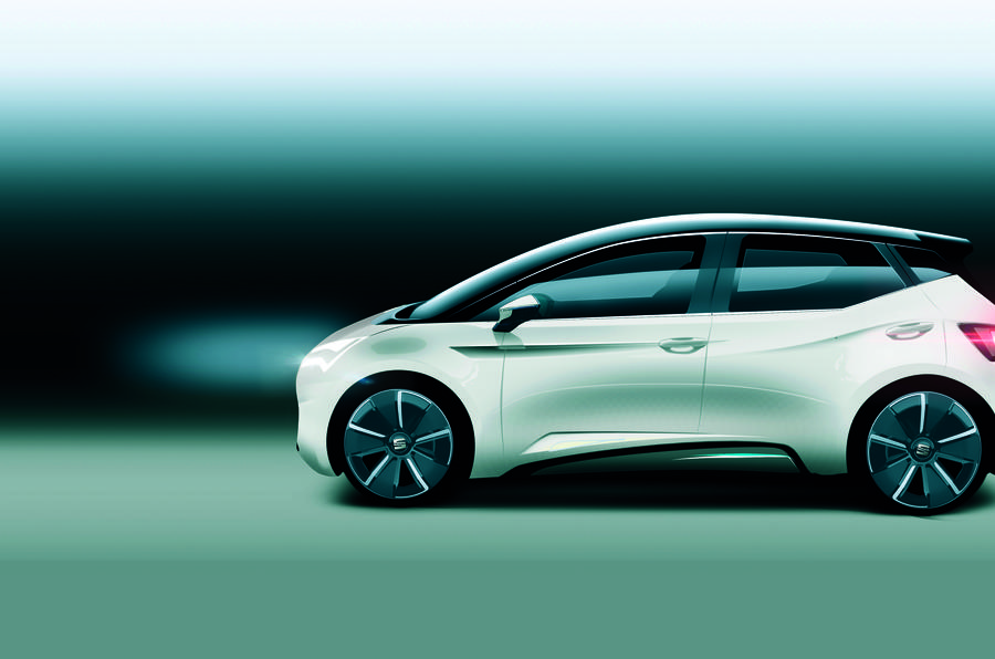 A rendering of what Seat's new EV could look like