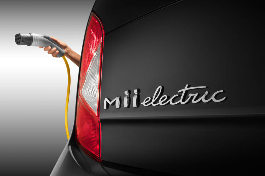 2020 Seat Mii electric press shots - badge