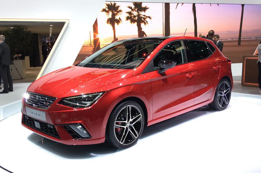 The new SEAT Ibiza is on display at Geneva